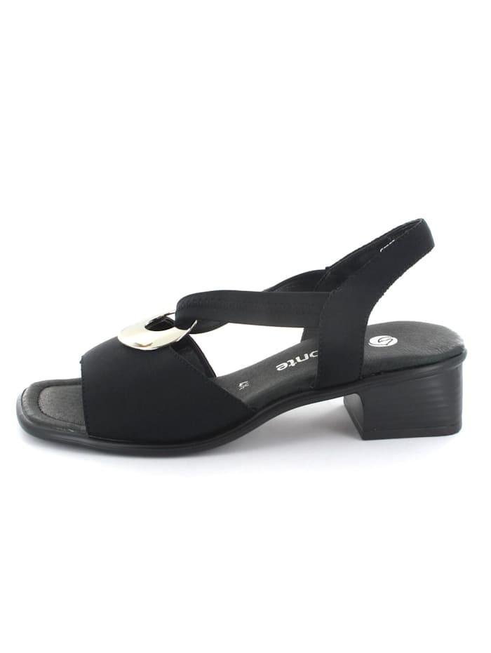 Remonte Damen Sandale in schwarz, schwarz
