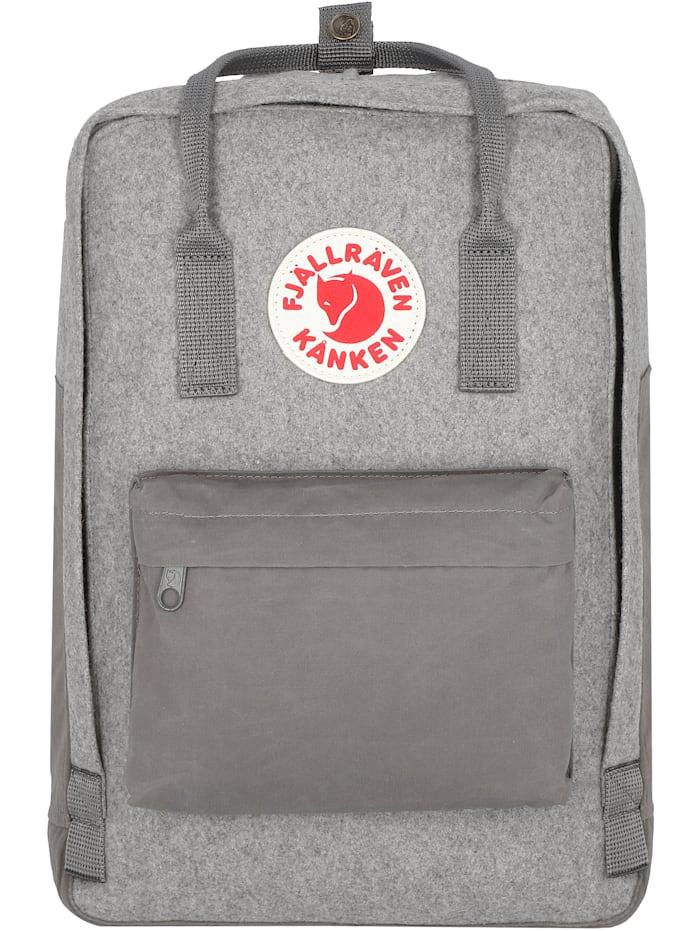 Fjällräven Kanken Re-Wool Rucksack 40 cm Laptopfach, granite grey