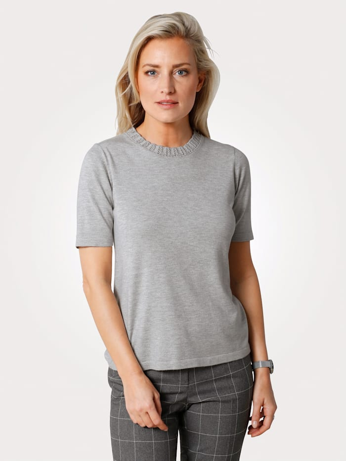 MONA Pullover in Feinstrick, Grau