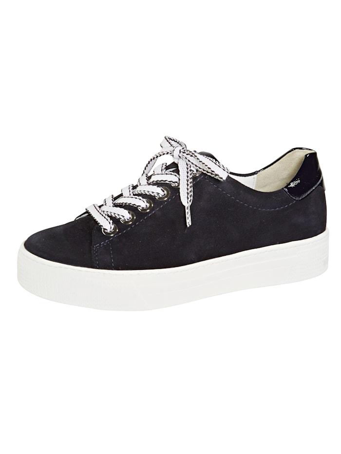 Semler Sneakers med platåsåle, Mørkeblå