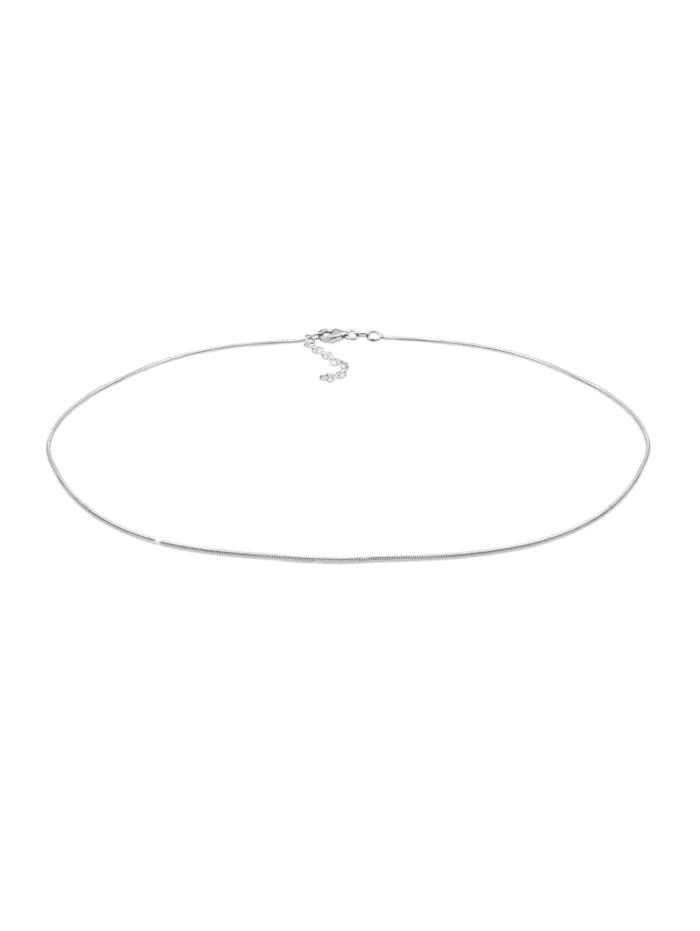 Elli Halskette Choker Schlangenkette Basic 925 Sterling Silber, Silber