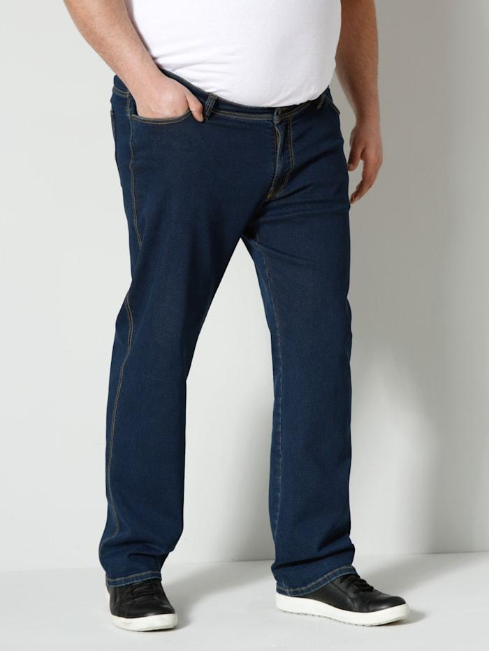 Men Plus High Strech Jeans Spezialschnitt, Dark blue