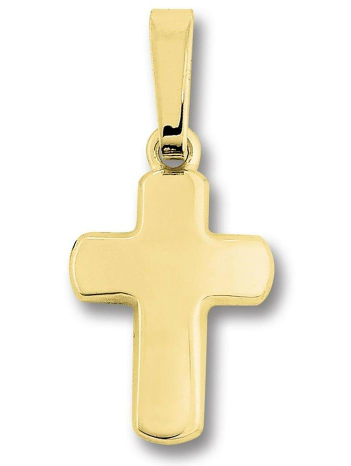 One Element Damen Schmuck Kreuz Anhänger aus 333 Gelbgold, gold