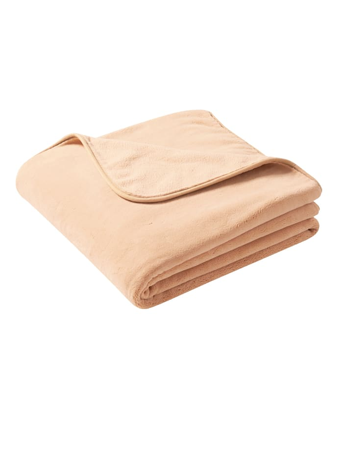 biederlack Plaid 'Pure Soft', Camel