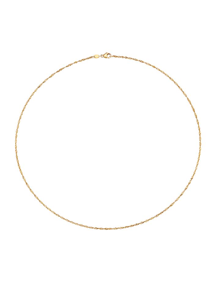 Diemer Gold Singapurkette aus Gold, Gelb