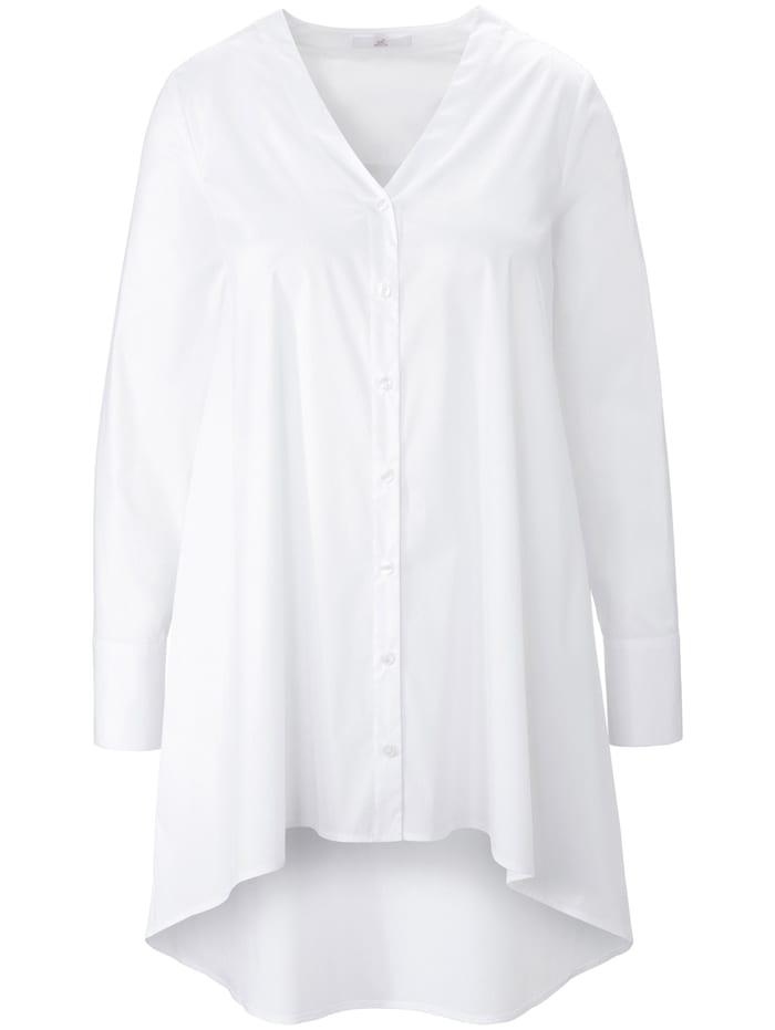 Emilia Lay Langarmbluse Long-Bluse, weiß