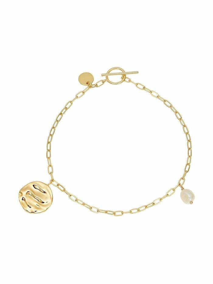 Noelani Armband für Damen, Sterling Silber 925, Süßwasserzuchtperle, Gold
