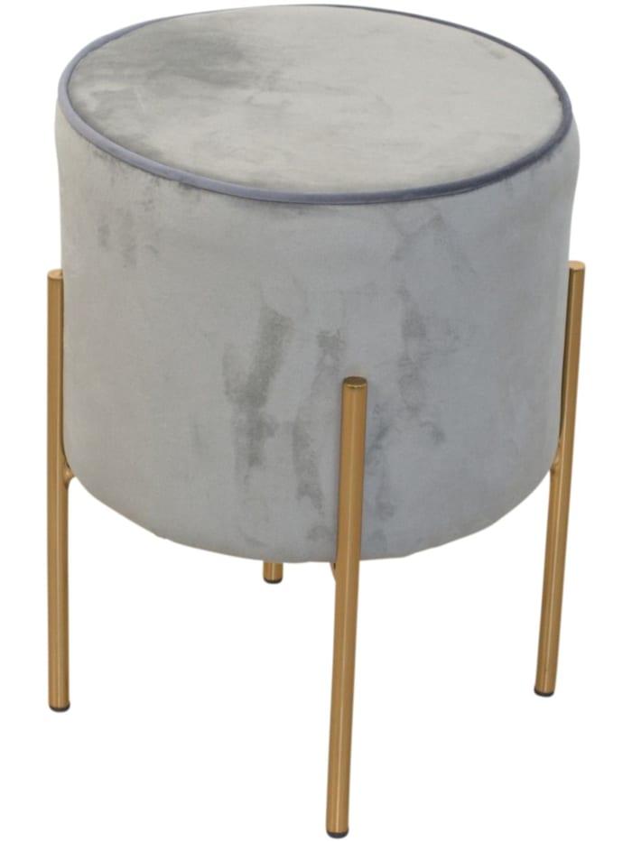Möbel-Direkt-Online Sitzpouf Daysi, grau