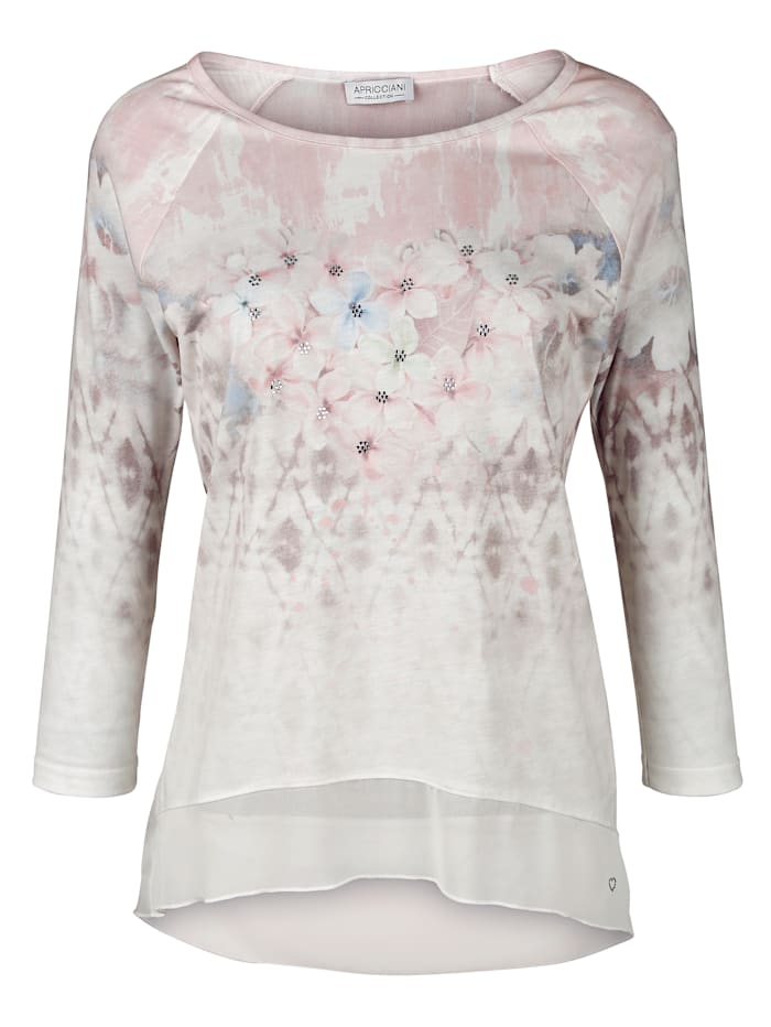 Shirt met transparante achterkant