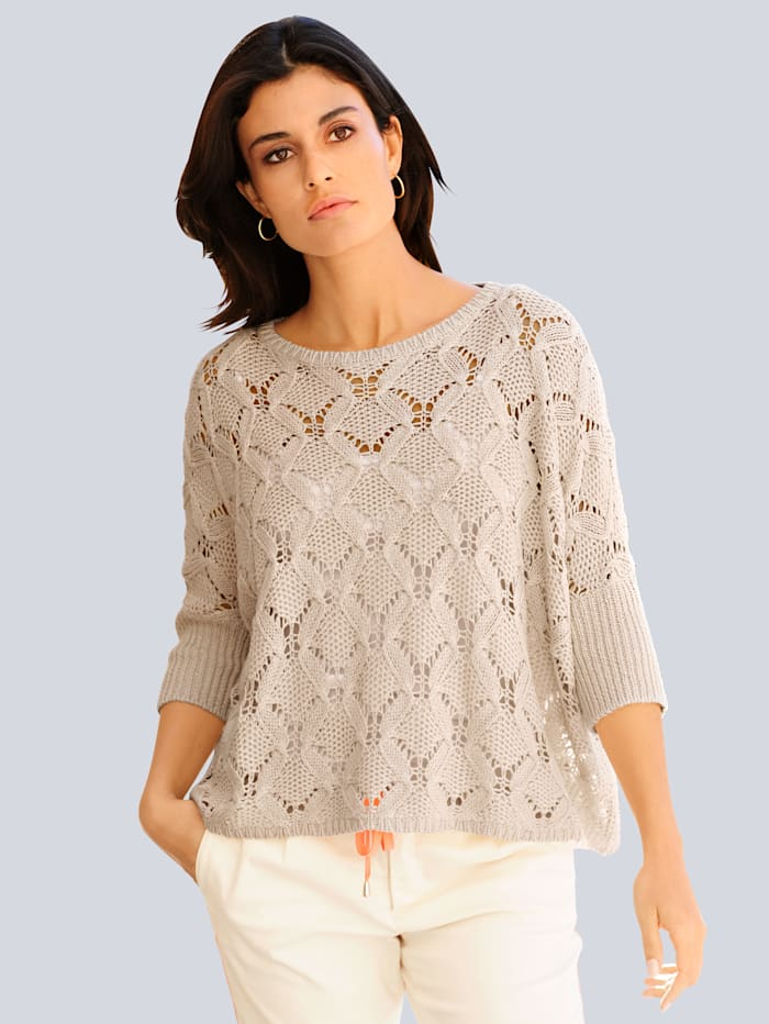 Alba Moda Pullover in Oversize-Form, Sand