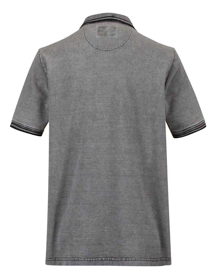 Poloshirt in gewaschener Used-Optik