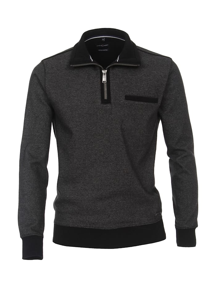 CASAMODA Sweat-Troyer andere Muster, Grau