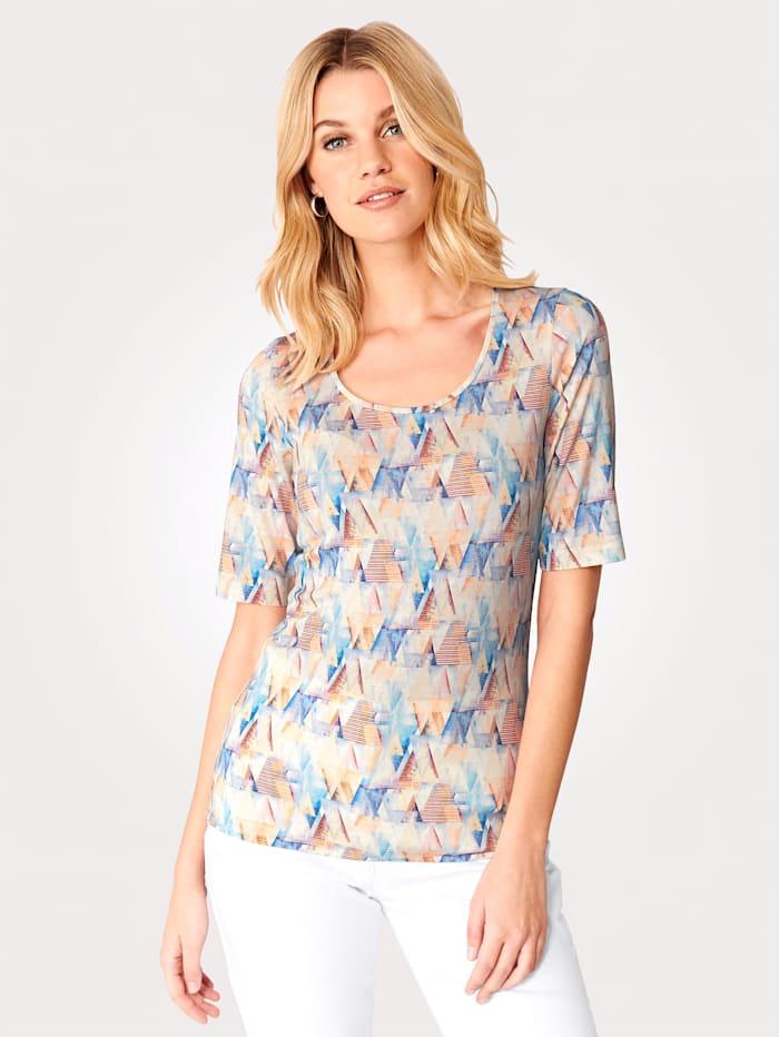 T-shirt à imprimé abstrait
