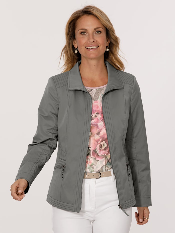 MONA Jacket made from a comfortable fabric, Moss Green