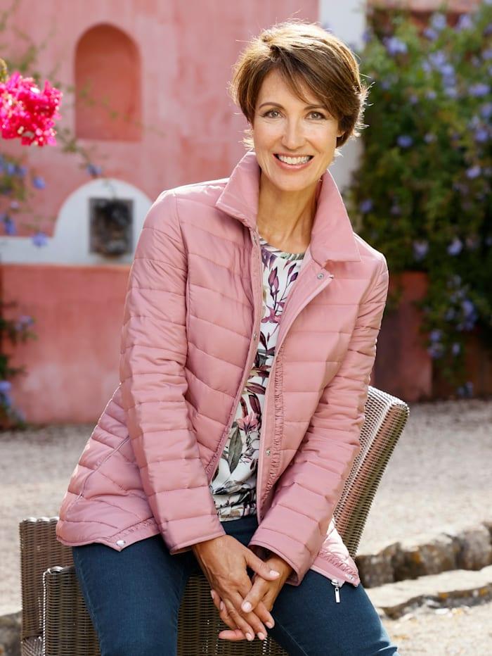 Paola Veste avec plis fantaisie à la glissière, Vieux rose