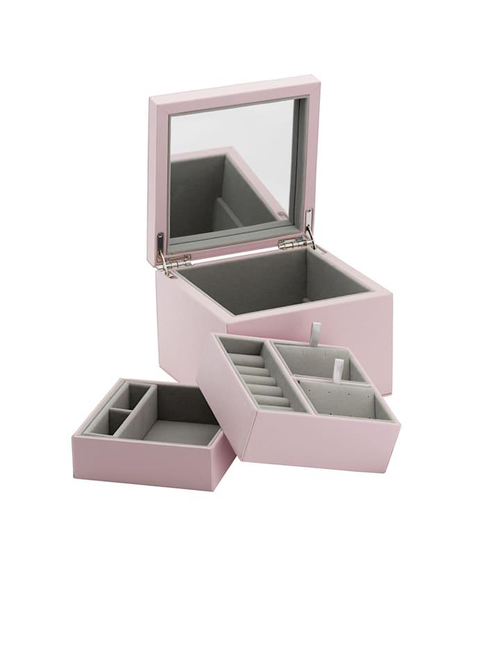 Schmuckbox Pandora aus rosefarbenem Lederimität - A004 -