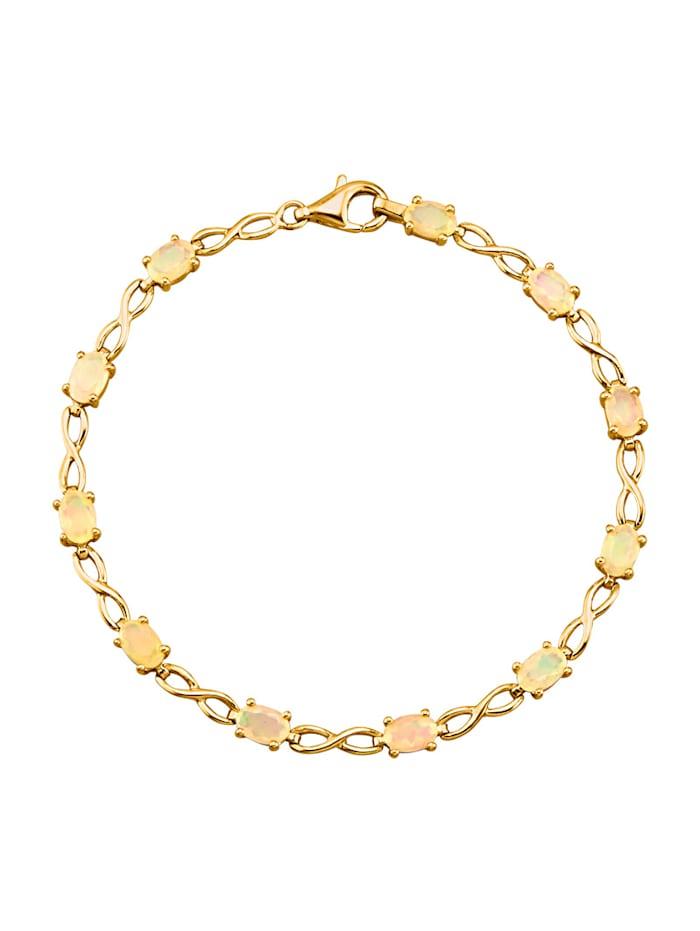 Armband mit Opalen, Weiß