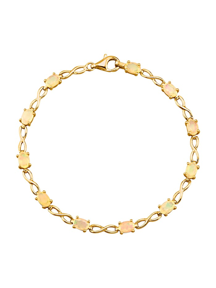 Bracelet avec opales, Blanc