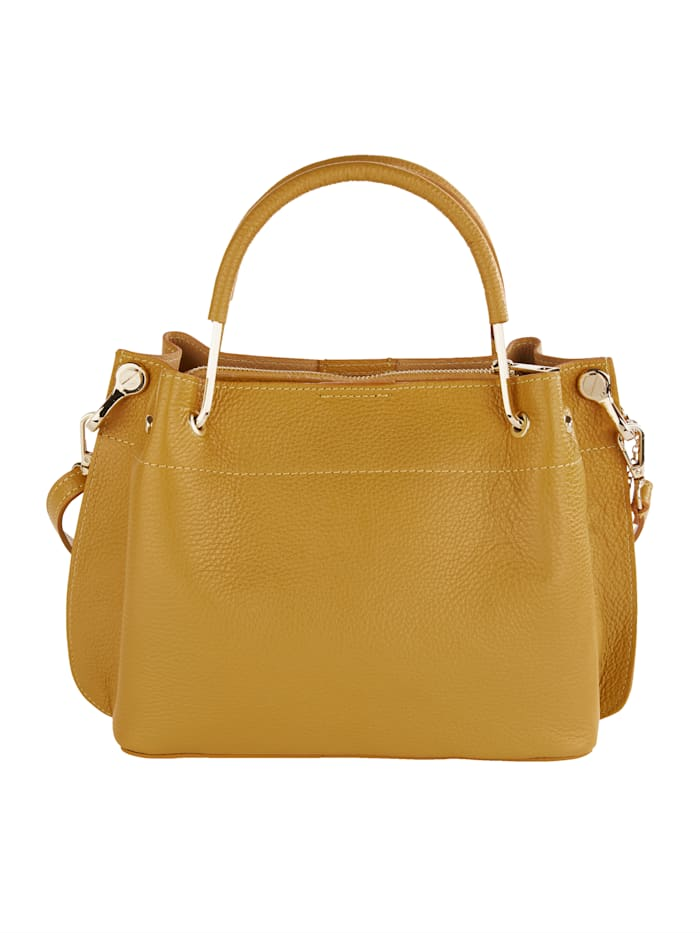 Handtasche mit abnehmbarem Schmuckanhänger und Quaste