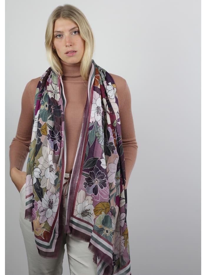 Flower-Schal aus Baumwolle und Modal