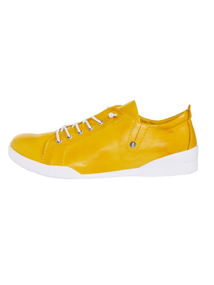 Sneaker met glanzende, elastische veters