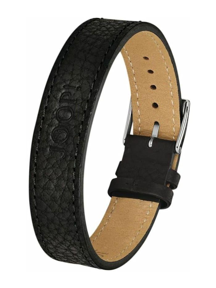JOOP! Armband für Herren, Edelstahl, schwarz