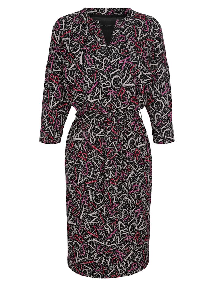Jerseykleid mit Allover-Druck