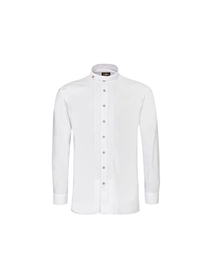 Hammerschmid Trachtenhemd Regular Fit, Weiß