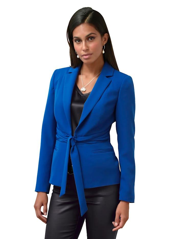 AMY VERMONT Blazer met bindbandje, Royal blue