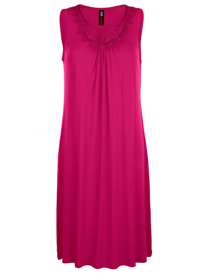 Beach dress with lace neckline