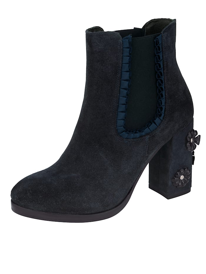 Chelsea Ankle boots Made of high-quality suede leather, Navy