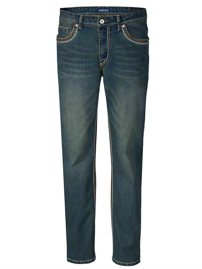 BABISTA Jeans med snygg tvättning, Blue bleached