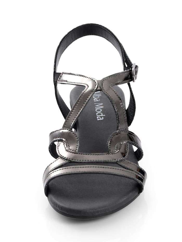 Sandalette in reflektierender Mirrooptik