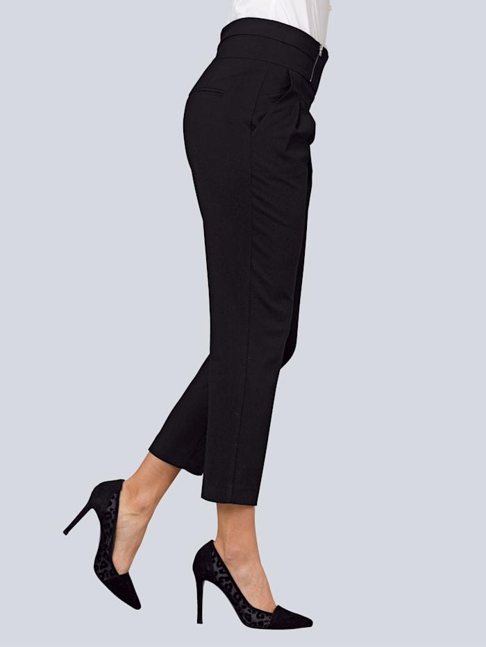 Hose mit Zipperdetail am Bund