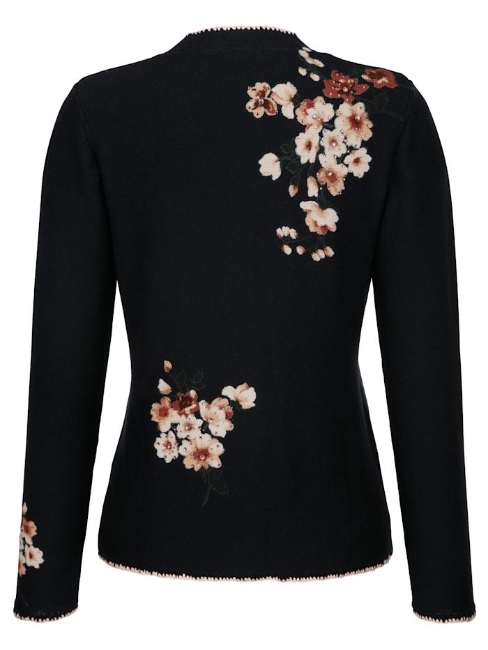 Vest met bloemenprint in harmonieuze kleuren rondom