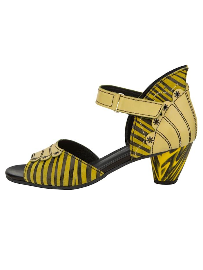 Sandale in extravaganter Optik und Streifendesign