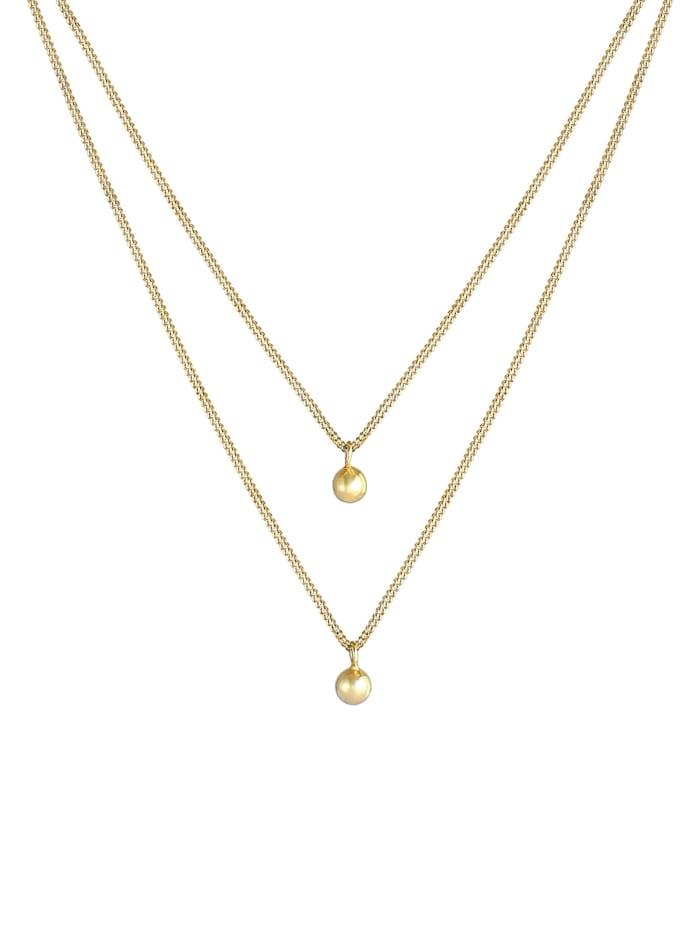 Halskette Layer Panzer Silberkugeln Basic 925 Silber