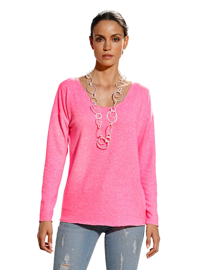AMY VERMONT Trui in casual model, Neonpink