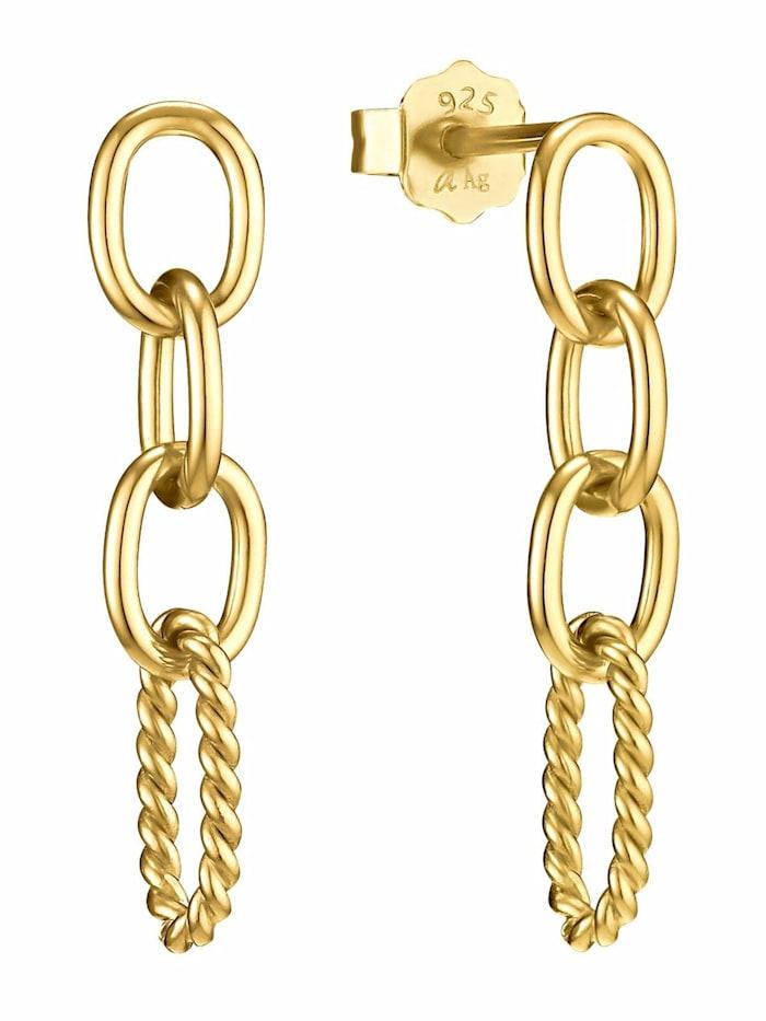 amor Ohrhänger für Damen, Sterling Silber 925, Gold