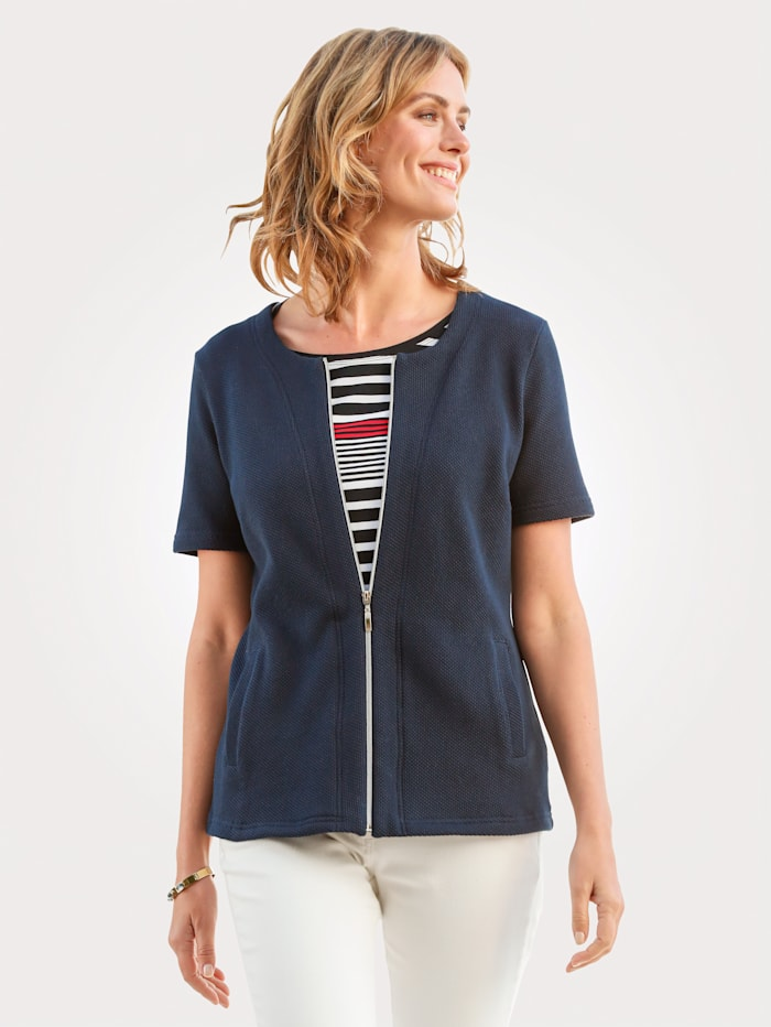MONA Jacket made from pure cotton, Navy