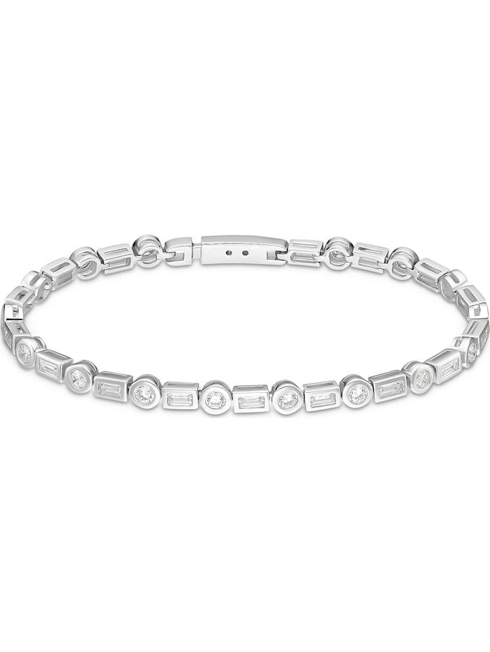 FAVS. FAVS Damen-Armband 925er Silber 16 Zirkonia, silber