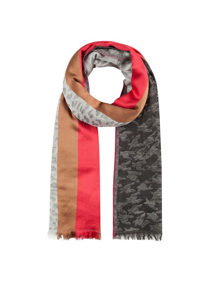Codello XL-Schal aus Wolle, Baumwolle und Modal, anthracite