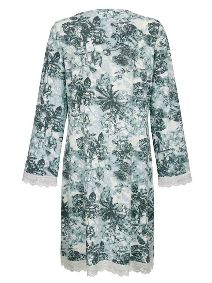 Nachthemd mit floralem Druckmotiv