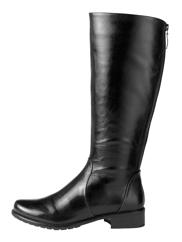 Stiefel mit zusätzlichem Reißverschluss im Wadenbereich