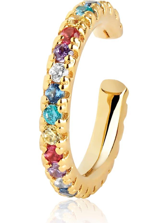 Sif Jakobs Sif Jakobs Jewellery Damen-Ear Cuffs 925er Silber Zirkonia, Gold/Mehrfarbig