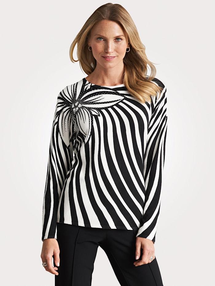 Pullover mit Schmuck- und Strass-Steinen