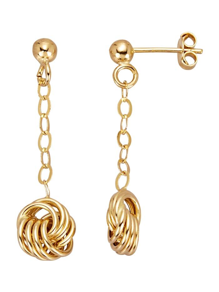 Amara Gold Ohrringe diamantiert, Gelbgoldfarben
