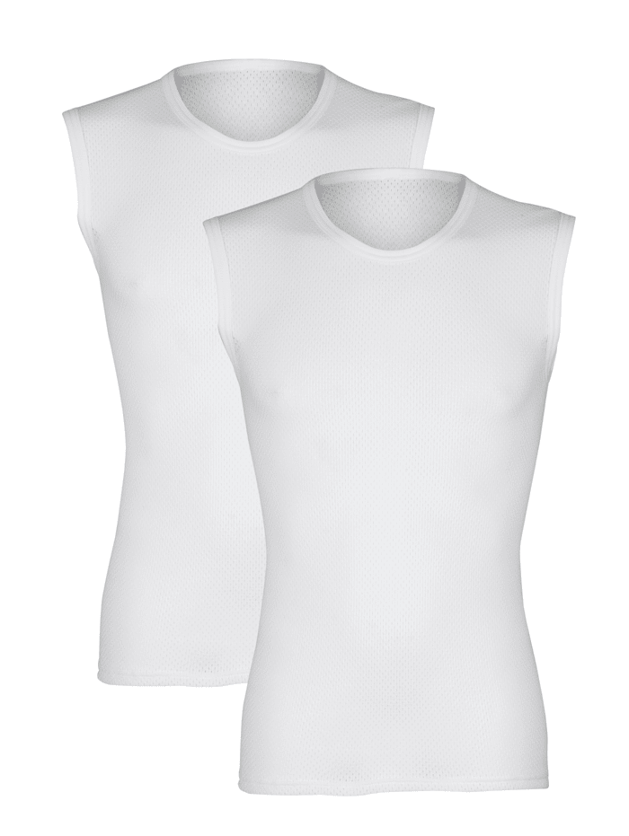 Mouwloos shirt van comfortabel materiaal 2 stuks