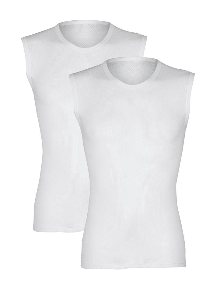 Pfeilring Mouwloos shirt van comfortabel materiaal, Wit