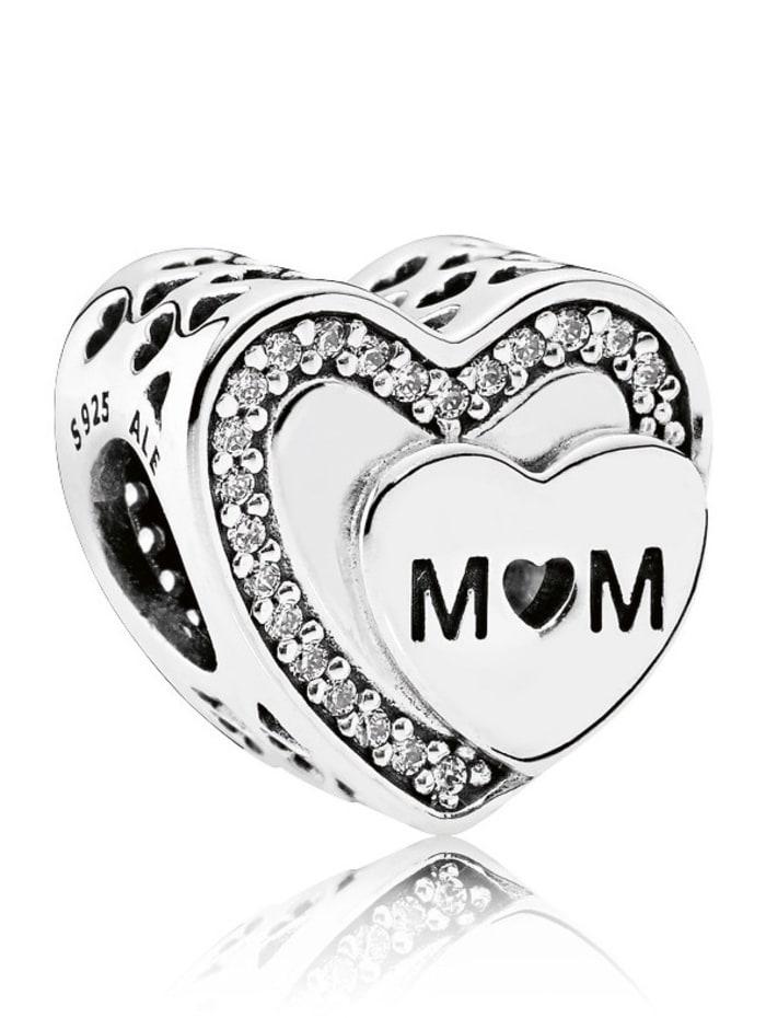 Pandora Charm -Mom- 792070CZ, Weiß